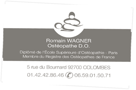 Romain Wagner Osteopathe DO A Colombes 92700